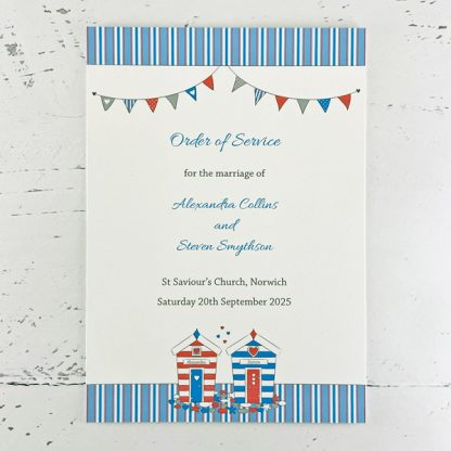 beach hut wedding order of service