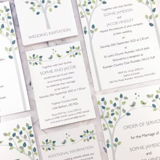 Bird wedding stationery