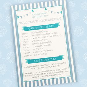 order of events card