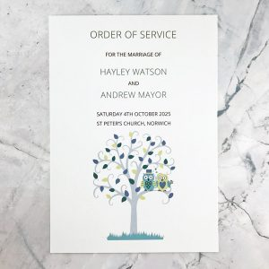 owl design order of service