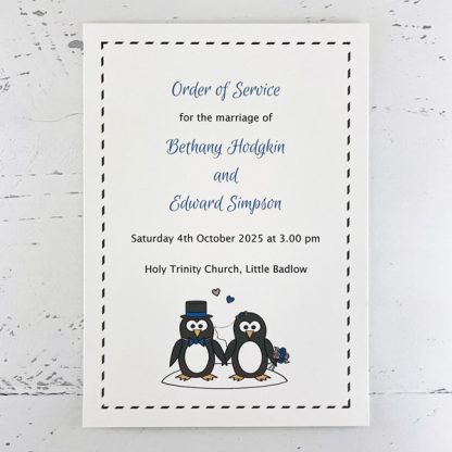 penguin wedding order of service