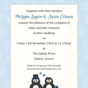 printed guest names on wedding invitations