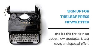 receive the leaf press newsletter