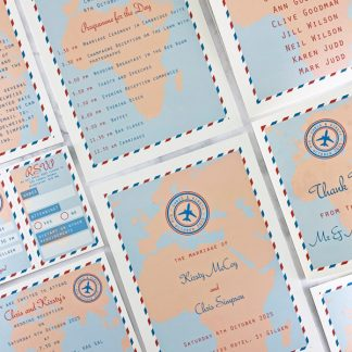 Travel Ticket wedding stationery