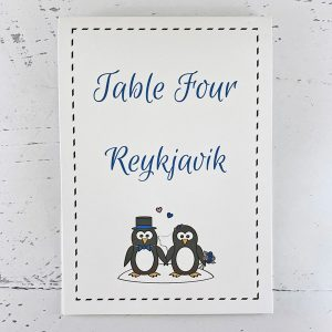 penguin wedding table name