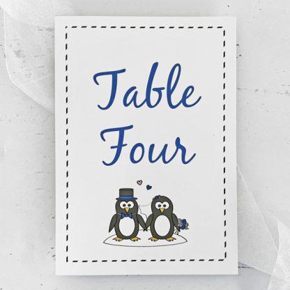 penguin wedding table name