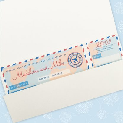 airline ticket wedding invitations