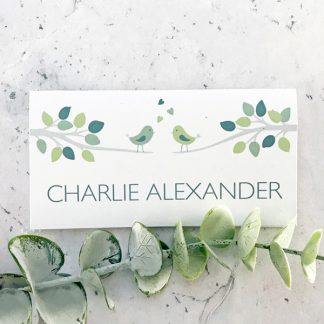 bird design wedding place card