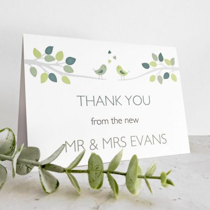 bird themed wedding card