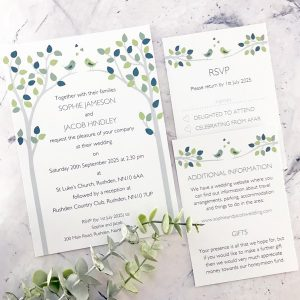 bird themed wedding invitations