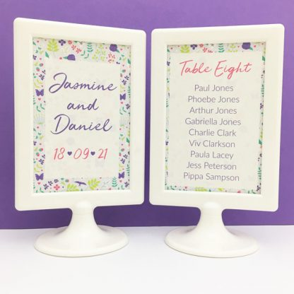 cards for wedding seating plan