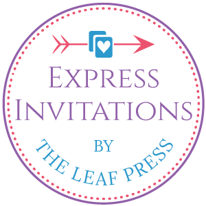 express invitations by the leaf press