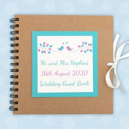 handbound wedding guest book
