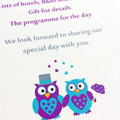 owl wedding guest information