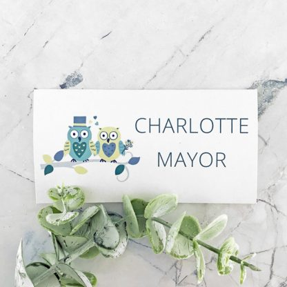 owl wedding place card