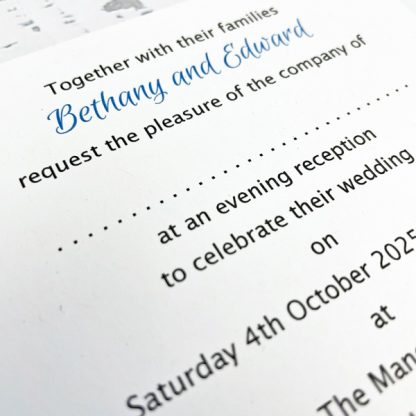 personalised evening wedding invitations penguin