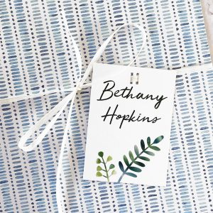 personalised wedding favour gift tags