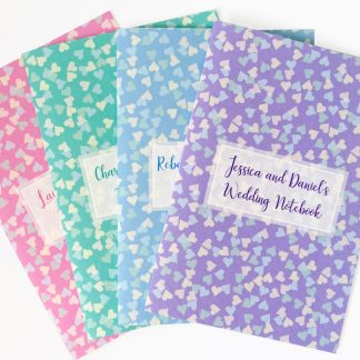 personalised wedding notebook confetti