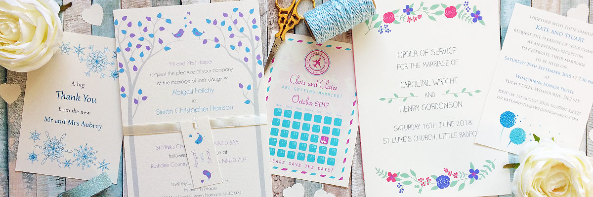 UK wedding invitations and stationery - The Leaf Press