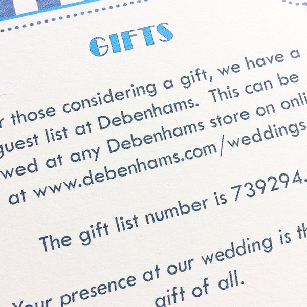 Just The Ticket Wedding Information Card The Leaf Press