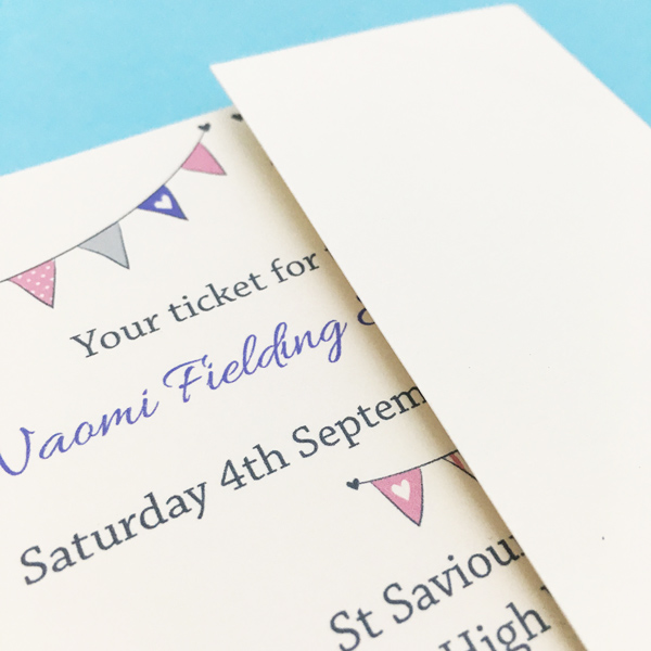 ticket wedding invitations uk