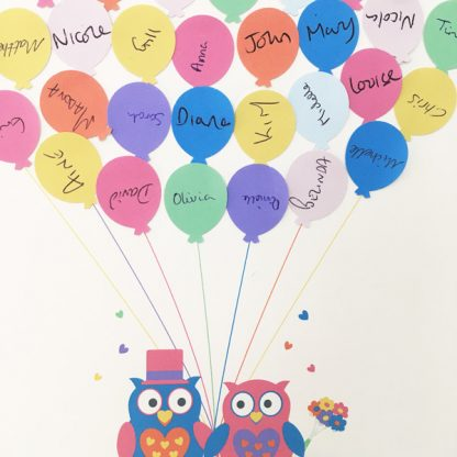 wedding guest book alternative balloons