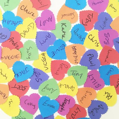 wedding guest book alternative hearts