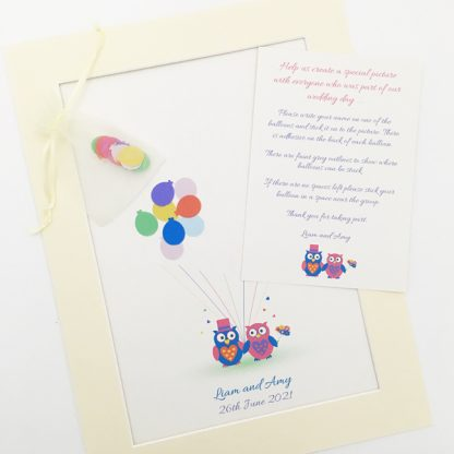 wedding guest book picture balloons