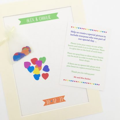wedding guest book picture hearts