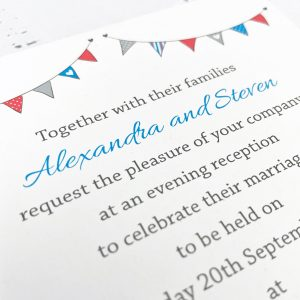 wedding reception invitations beach hut