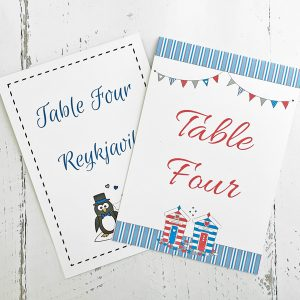 Wedding table names or numbers