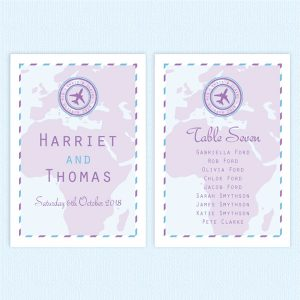 wedding table plan cards travel ticket