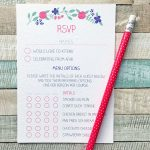 rsvp cards for menu options