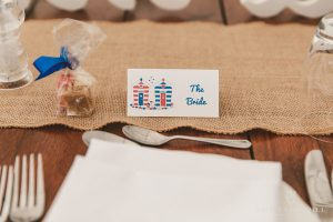 beach hut place name card