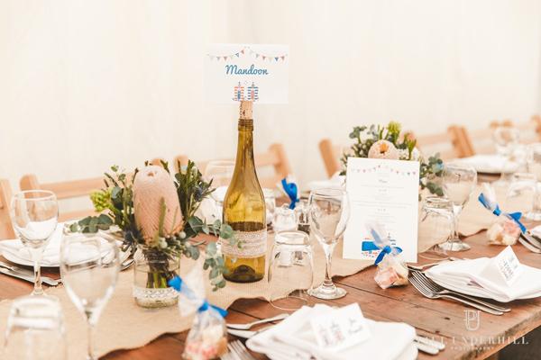 beach hut wedding table name