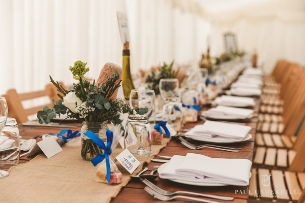 beach hut wedding stationery