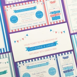Circus Festival wedding stationery