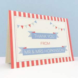 circus festival wedding greetings card