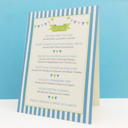 circus festival wedding menu standing