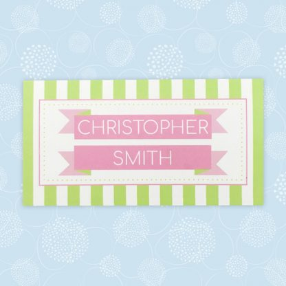 circus festival wedding place card