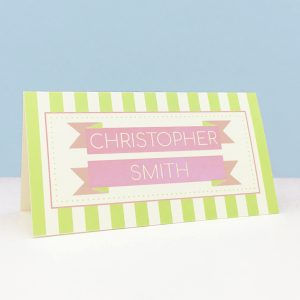 circus festival wedding place name cards