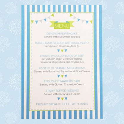 circus festival large wedding menu