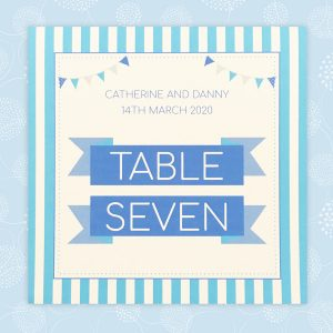 circus festival wedding table number
