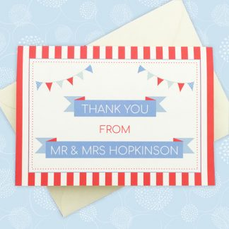 circus festival wedding thank you card