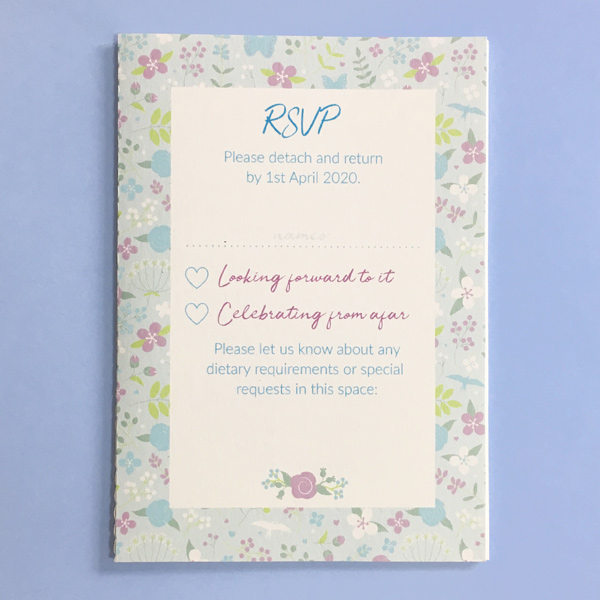 concertina invitation detachable rsvp