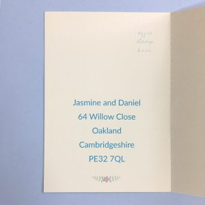 concertina wedding invitation rsvp postcard