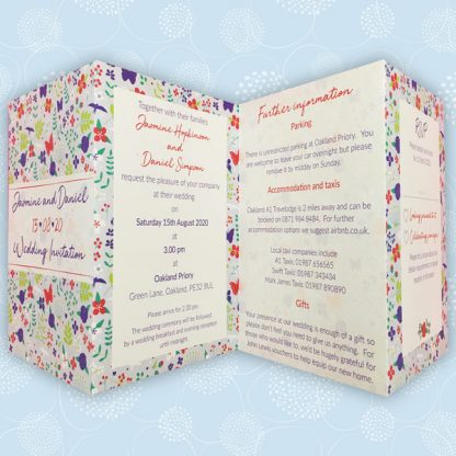 meadow flowers concertina style invite