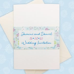 merry meadow flowers pocketfold invitation