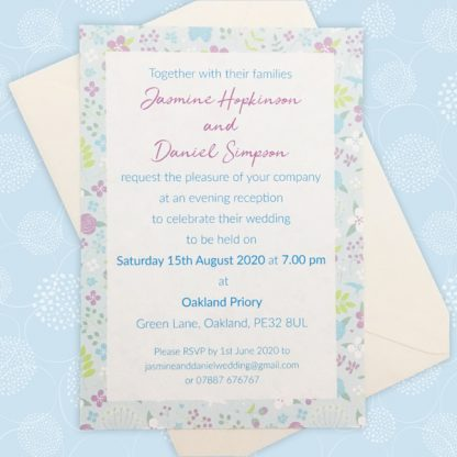 floral evening wedding invitation