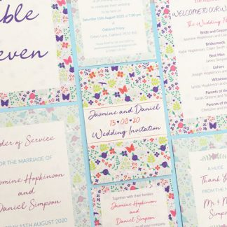Merry Meadow Flowers wedding stationery